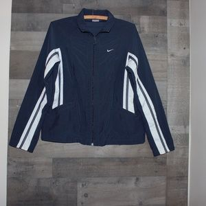 Nike Women's Jacket Medium Dark Blue & White